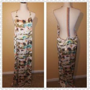 NWT ark & co. Maxi Dress size Medium open back